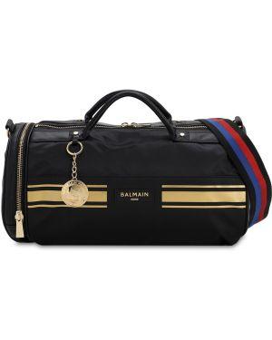 Czarna torebka skórzana w paski Puma X Balmain