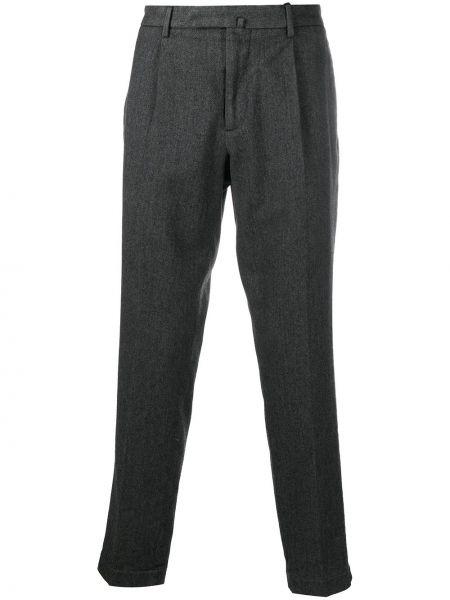 Ватные шерстяные серые чиносы с карманами Dell'oglio