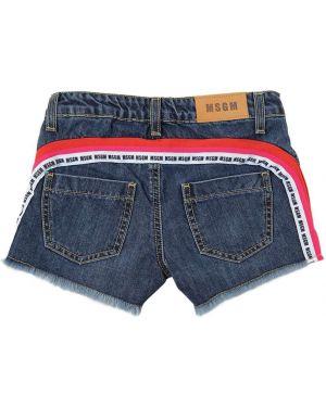 Синие джинсовые шорты Msgm