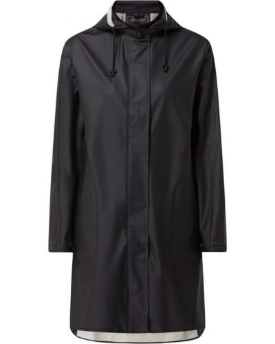 Czarny płaszcz z kapturem Ilse Jacobsen