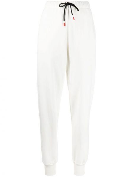Хлопковые белые спортивные брюки с поясом Peuterey