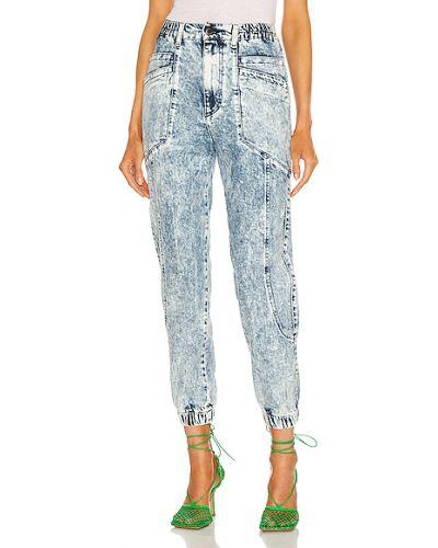 Niebieskie jeansy bawełniane sznurowane Retrofete