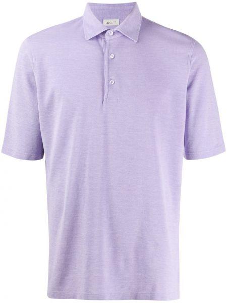Koszula krótkie z krótkim rękawem klasyczna fioletowy Doriani Cashmere