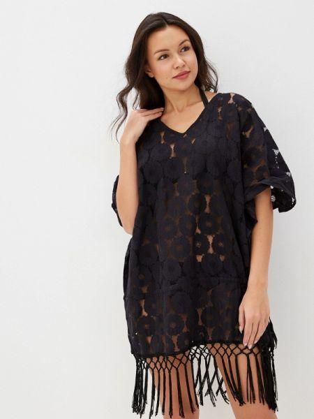 Пляжное платье индийский черное Indiano Natural