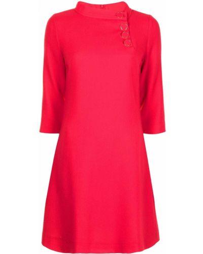Шерстяное красное платье трапеция Goat