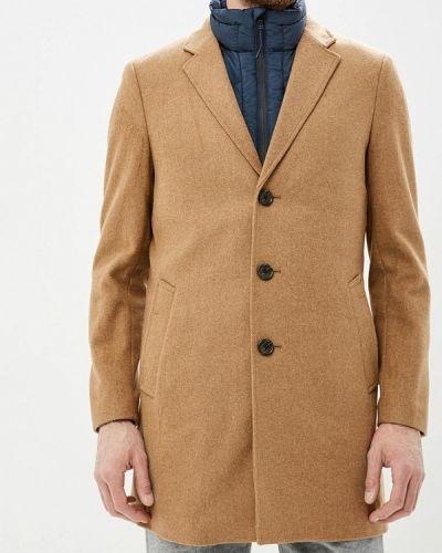 Коричневое пальто осеннее Tom Tailor