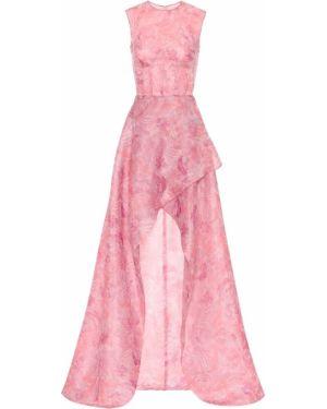 Летнее платье розовое с цветочным принтом Costarellos