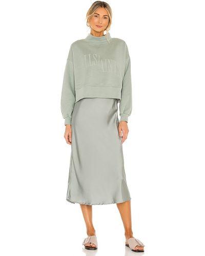 Кожаное платье - зеленое Allsaints