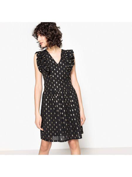 Расклешенное платье мини с V-образным вырезом с рисунком на молнии See U Soon