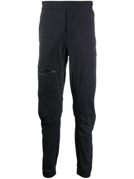 Зауженные спортивные брюки - черные Mammut