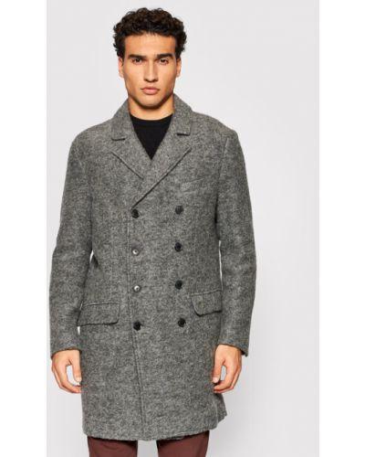 Płaszcz wełniany - szary United Colors Of Benetton
