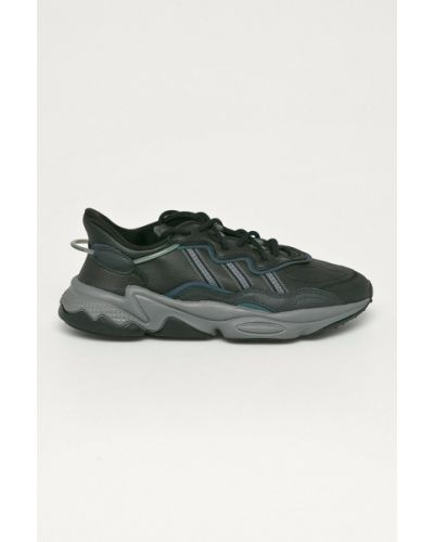 Czarne sneakersy skorzane sznurowane Adidas Originals