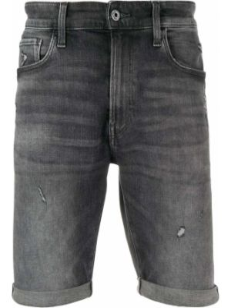 Ватные черные джинсовые шорты с карманами из овчины G-star Raw