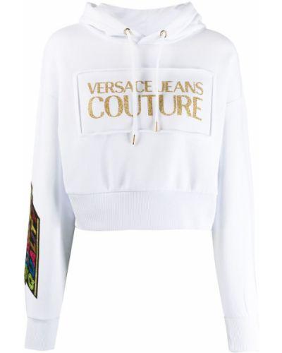 Укороченные джинсы mom белые Versace Jeans Couture