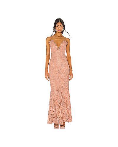 Вечернее платье на бретелях персиковое Nbd