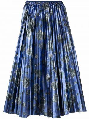 Синяя юбка с завышенной талией Red Valentino