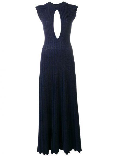 Платье с открытой спиной - синее Sonia Rykiel