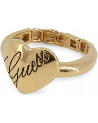 Żółty pierścionek Guess