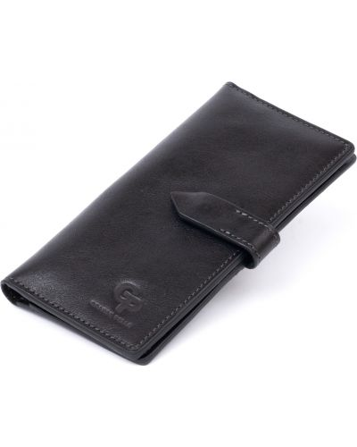 Кожаный портмоне - черный Grande Pelle