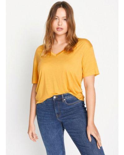 Желтая футболка Violeta By Mango