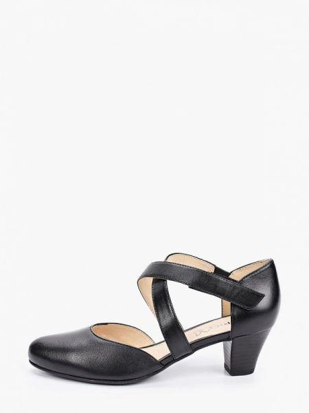 Кожаные туфли черные Caprice