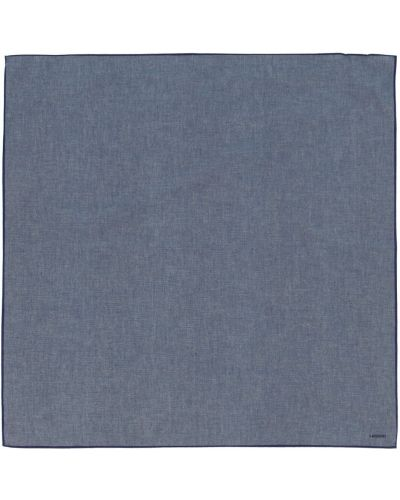 Niebieski szalik bawełniany Lardini