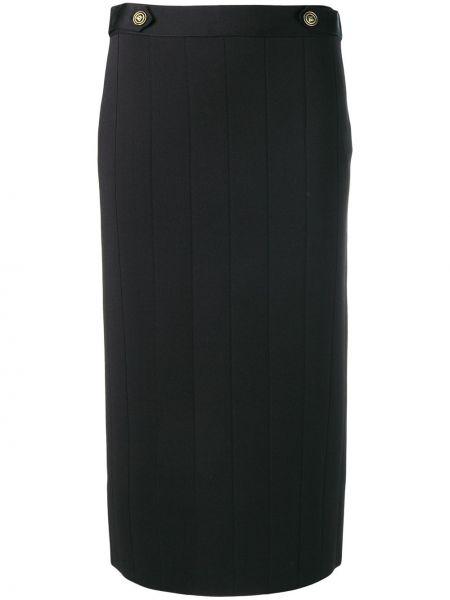 Czarna spódnica ołówkowa z wysokim stanem z wiskozy Givenchy