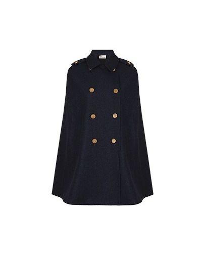 Синее шерстяное пальто Valentino Red