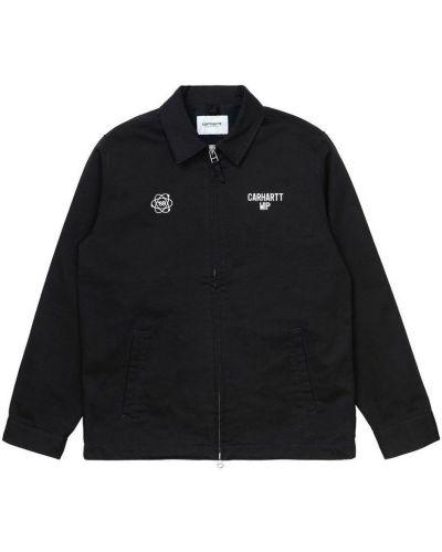 Czarna kurtka z printem Carhartt Wip