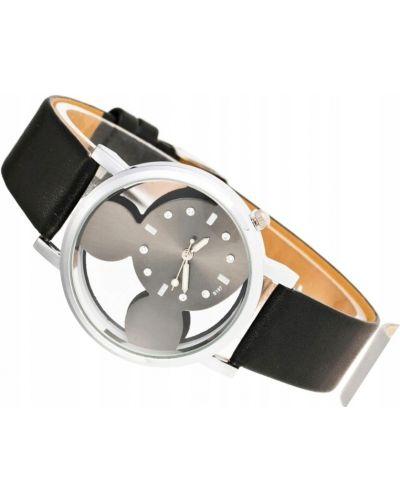 Klasyczny czarny zegarek srebrny Geneva