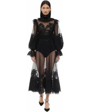 Платье на пуговицах с буфами Zimmermann