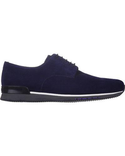 Кожаные кроссовки - фиолетовые A.testoni
