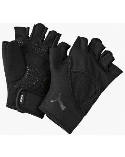 Перчатки для фитнеса черные Puma