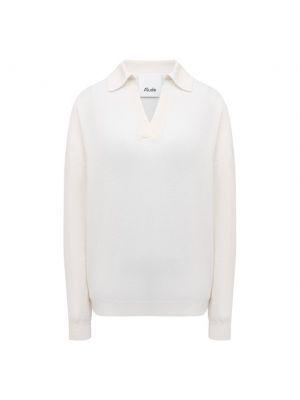 Трикотажный пуловер - белый Allude