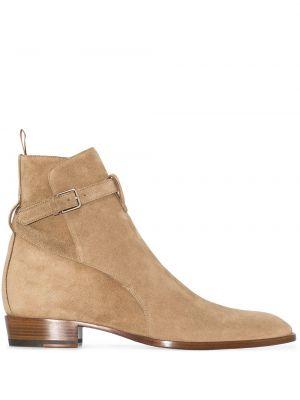 Ankle boots, beżowy Saint Laurent