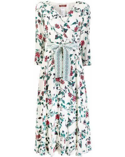 Платье с запахом с цветочным принтом Max Mara Studio
