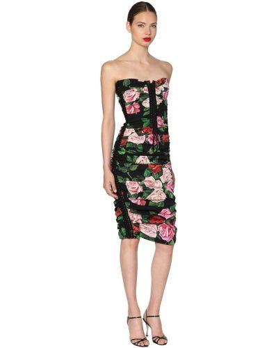 Платье миди на бретелях на шнуровке Dolce & Gabbana