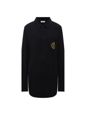 Черная блузка из вискозы Balenciaga