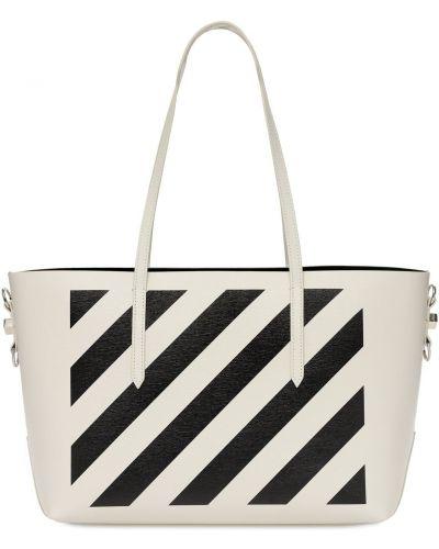 Biała torebka skórzana Off-white