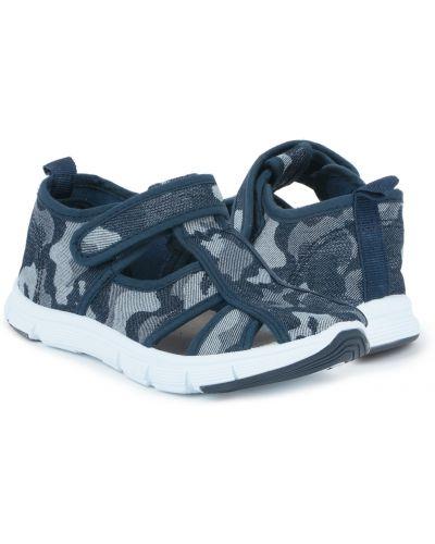 Текстильные синие сандалии Kidix