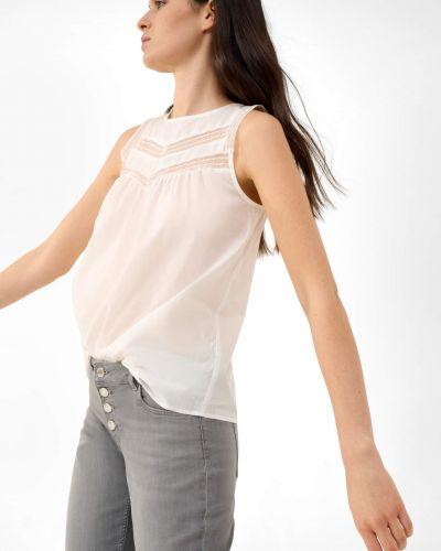 Biała bluzka bawełniana bez rękawów Orsay