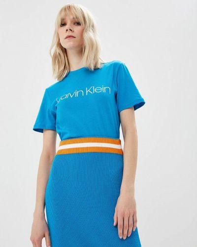 Голубая футболка 2019 Calvin Klein