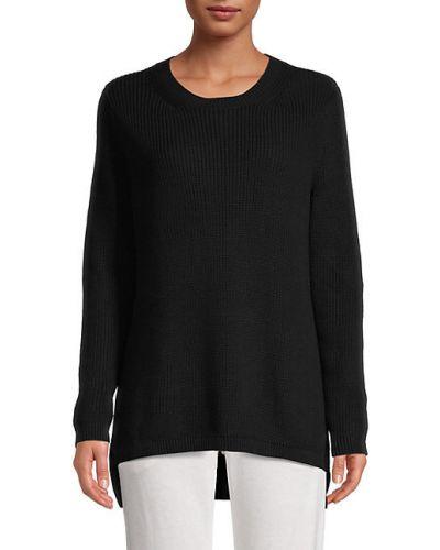 Хлопковый черный длинный свитер с длинными рукавами 525 America