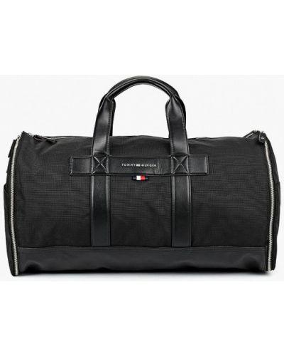 Дорожная сумка кожаная текстильная Tommy Hilfiger