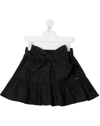 Черная юбка с бантом с поясом Msgm Kids