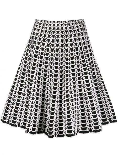 Czarna spódnica mini rozkloszowana z wiskozy Antonino Valenti