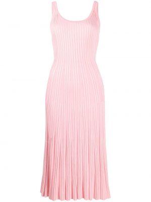 Платье миди в рубчик - розовое Kenzo
