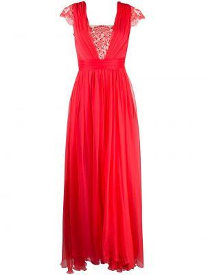 Приталенное шелковое плиссированное платье мини со вставками Rhea Costa