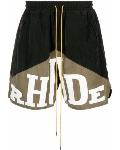 Czarne szorty bawełniane Rhude
