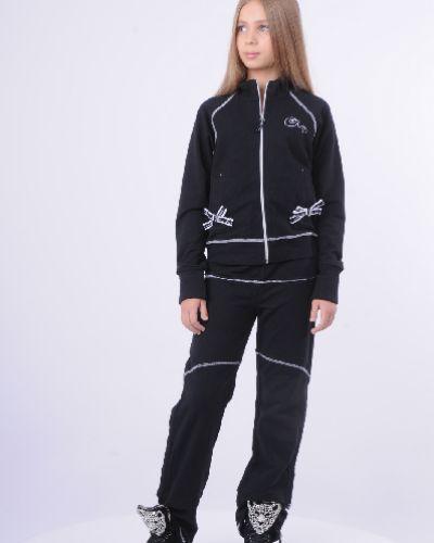 Спортивный костюм черный с принтом Arina Ballerina